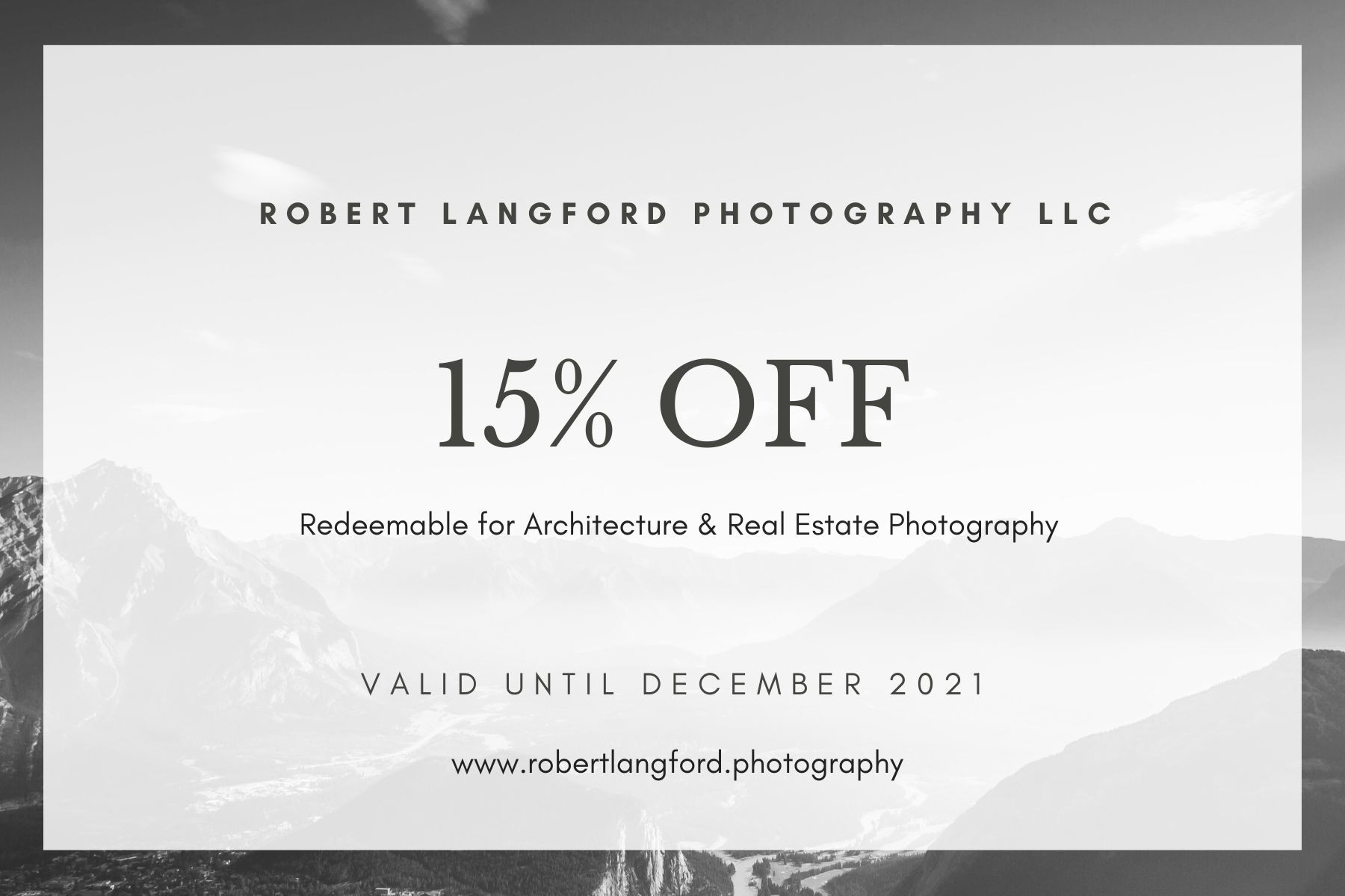 Architecture Photography Gift Certificat