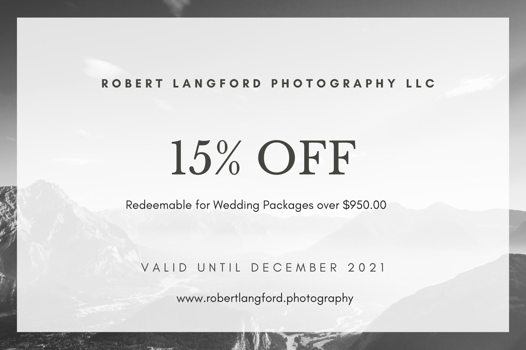 Copy of Wedding Photography Gift Certifi
