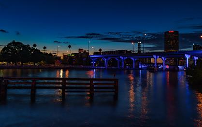 Tampa Riverwalk Night Shot
