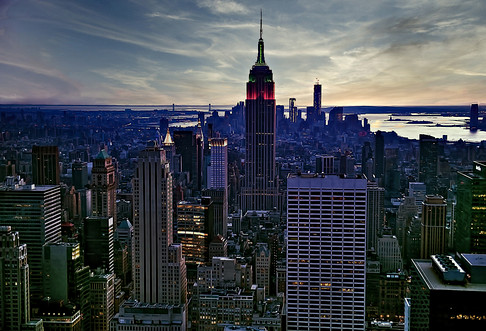 Empire State Building South View of Manhattan