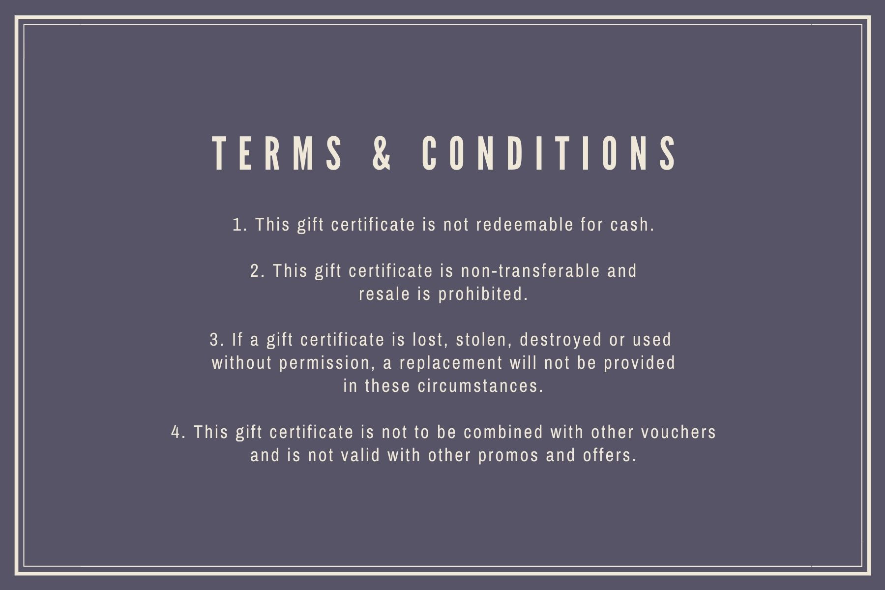 Model Terms & Conditions
