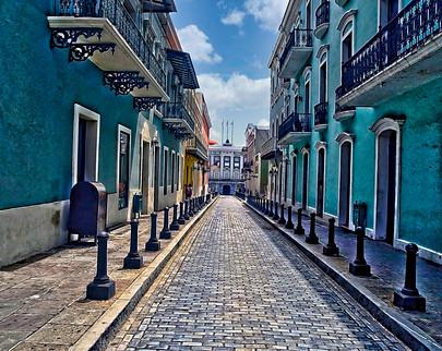 Cobble Stone Street Old San Juan Puerto