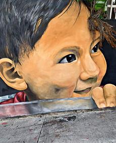 Child Graffiti Mural