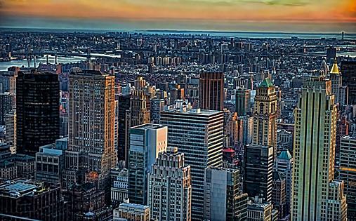 New York Skyline East View