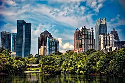 Atlanta Skyline View Piedmont Park