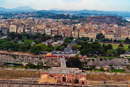 Town of Corfu Greece