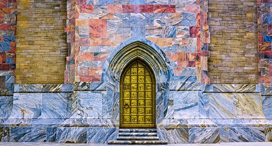 Singing Tower Metal Door Entrance