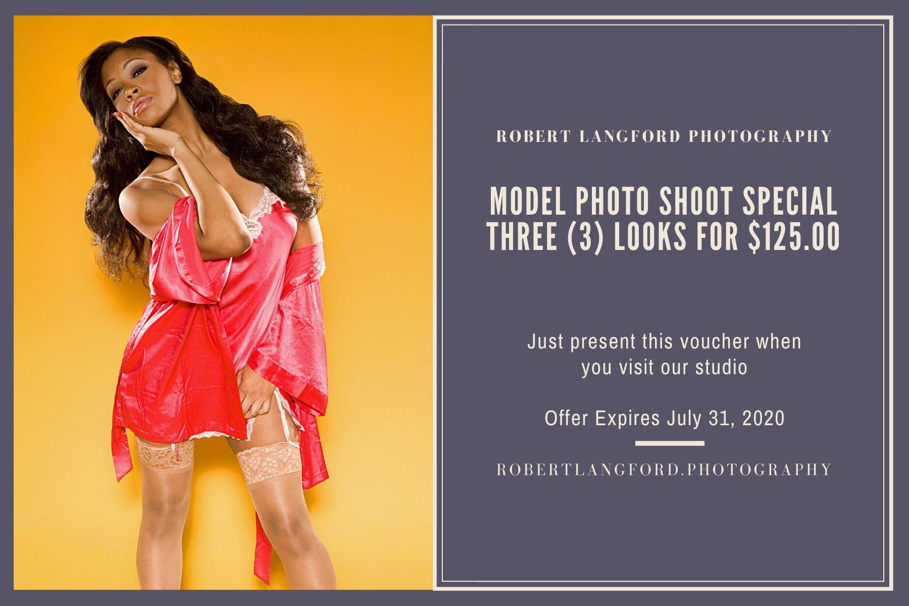 Model Photo Shoot Special