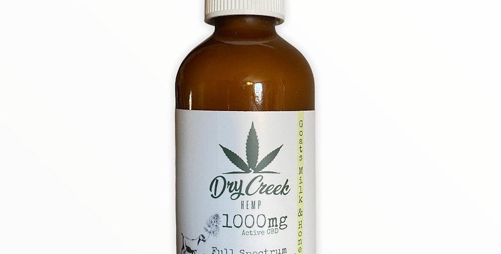 Goats Milk & Honey Hemp Extract Lotion- 1000mg
