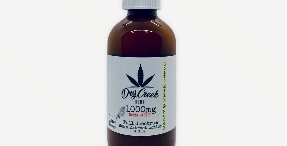 Goat Milk & Honey 1000mg Delta-8 Topical Relief Lotion