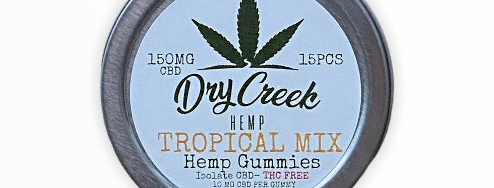 Tropical Mix Isolate (THC Free) Hemp Gummies - 150mg