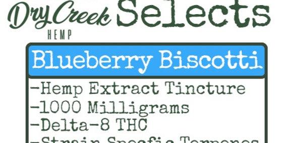 Delta Eight Tincture- Blueberry Biscotti