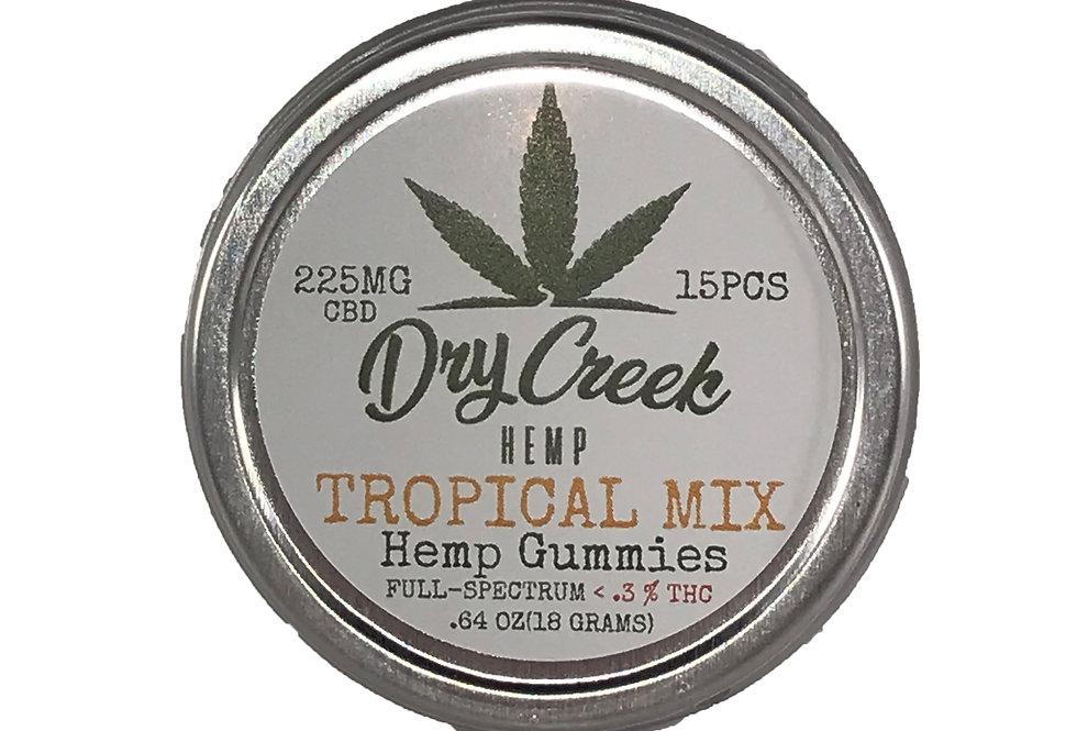 Tropical Mix Hemp Gummies- 260mg- full spectrum