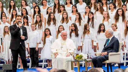ביקור האפיפיור בבית הנשיא