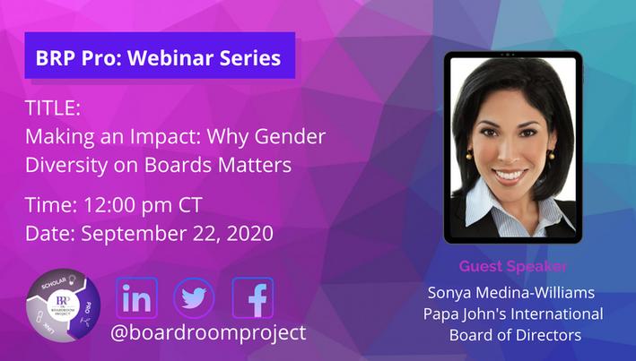 BRP Pro: Webinar Series - Guest Speaker,  Sonya Medina Williams