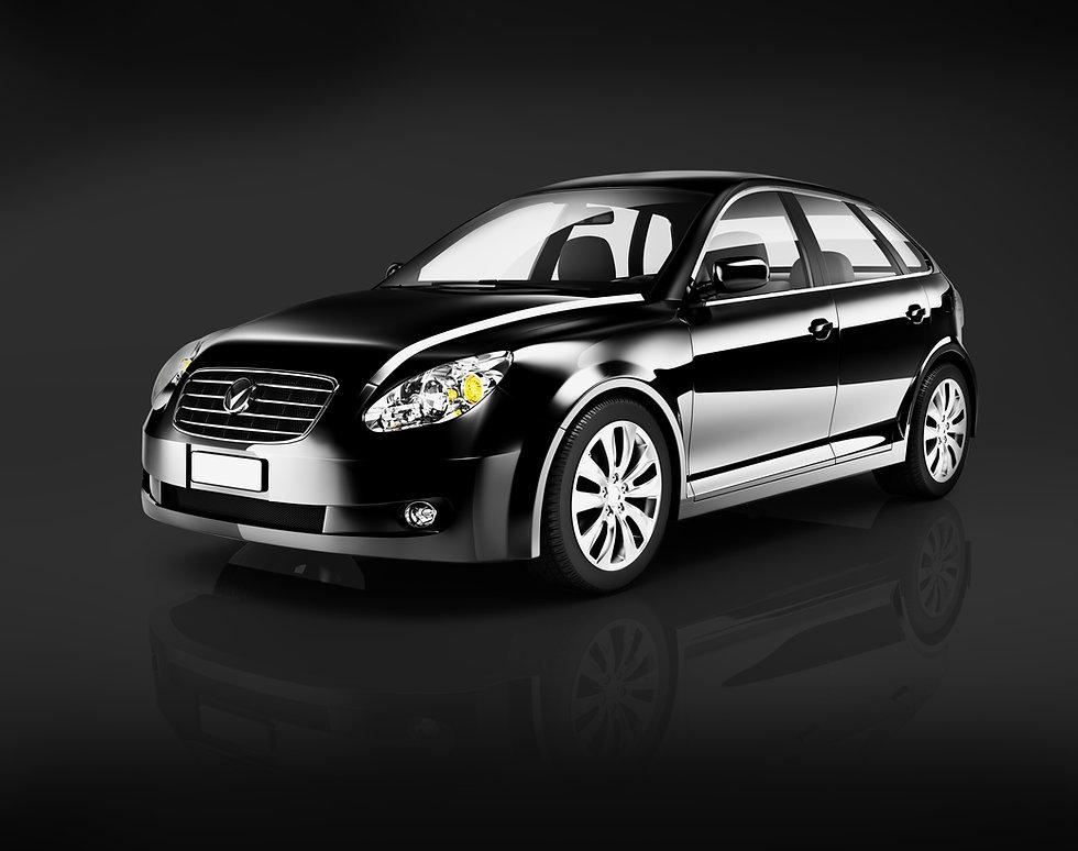 Three-Dimensional Shape Black Sedan Stud