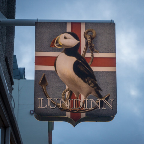 Puffin shop sign, Reykjavik