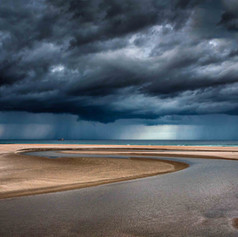Pakiri Beach storm approaching