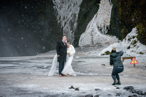 Icelandic wedding, Skogafoss