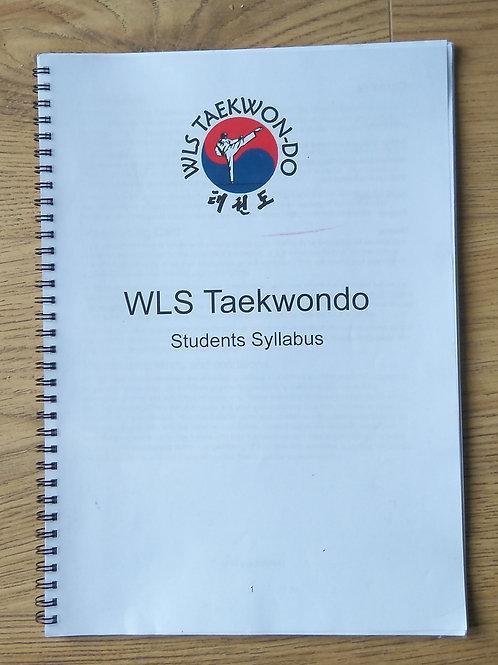 WLS Taekwondo Student Syllabus Booklet
