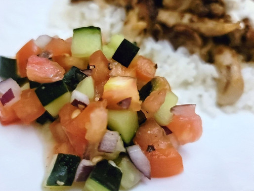 DICED CUCUMBER AND TOMATO SALAD