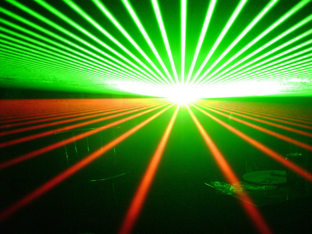 picture : lasers by Douglas Muth on Flickr.com