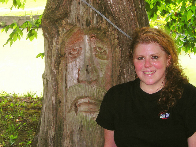picture : Him & Her REDwood Faces. It was a very HOT Day by Angie Flowers on Flickr