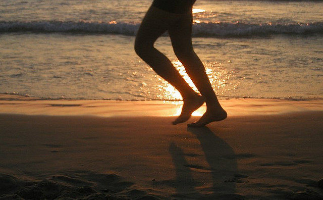 picture :jogging on the beach by   Naama ym on Flickr