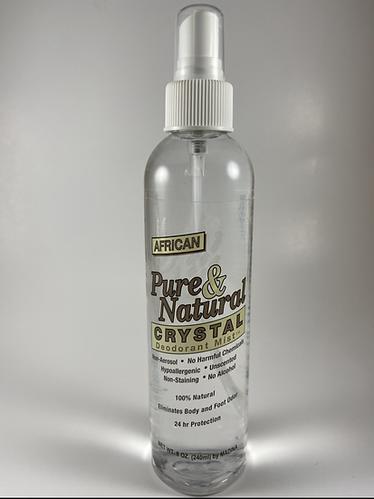 African Pure & Natural Crystal Deodorant Mist