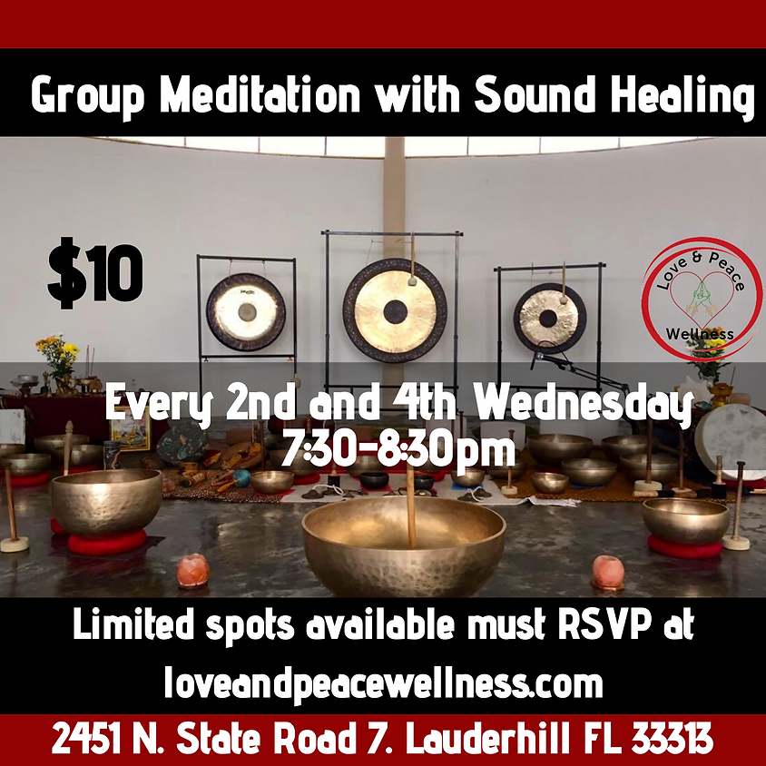 Group meditation with Sound