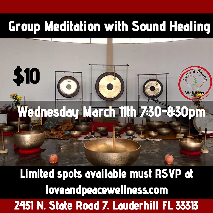 Group Meditation and Sound Healing