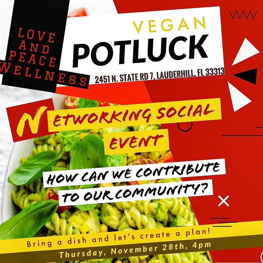 Vegan Potluck Networking Social Event