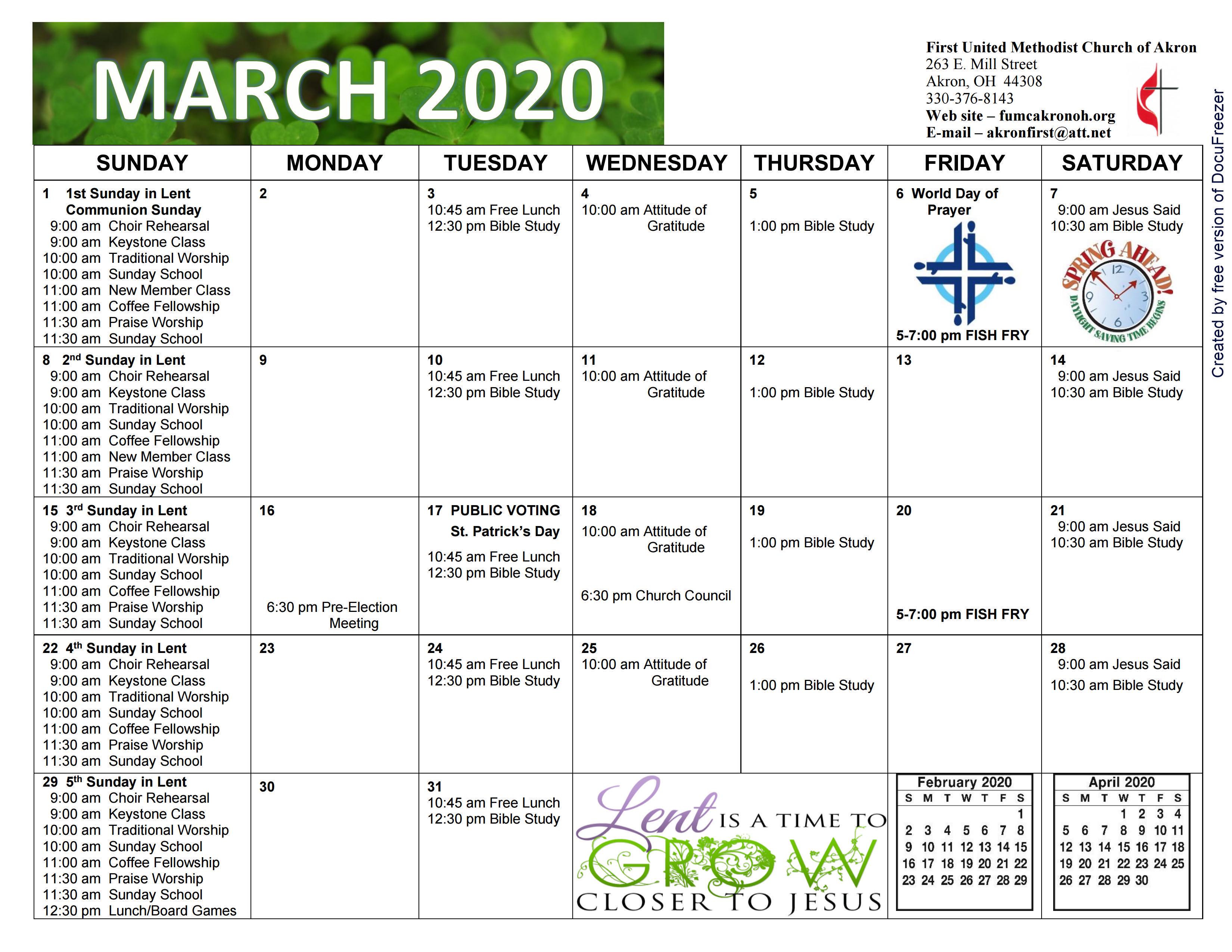 Cal MAR 2020