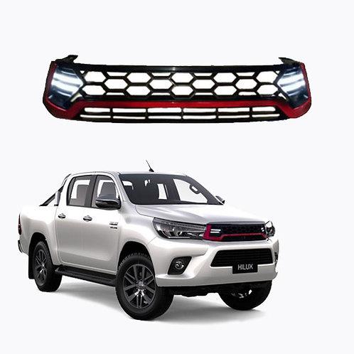 Parrilla Toyota Hilux con LED
