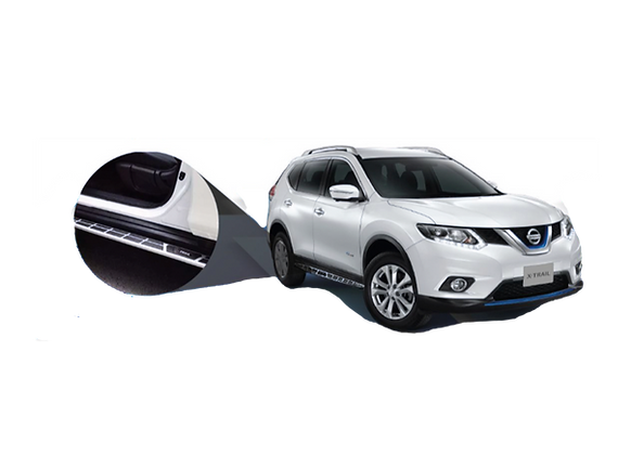 Estribos Nissan X-Trail con logo