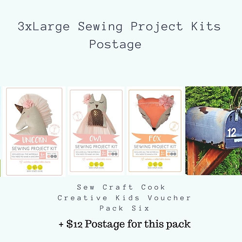 3 Large Sewing Project Kits