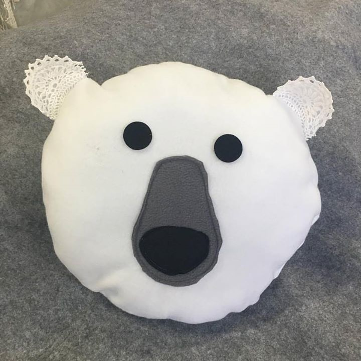 #polarbear #cushion #sew this _sewcraftcook #schoolholiday #workshops check www.sewcraftcook.com