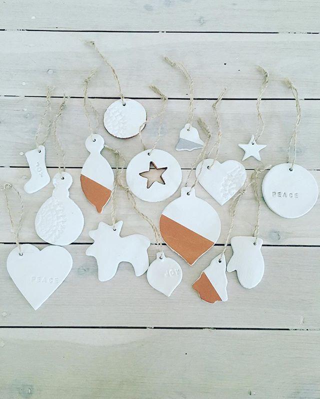 DIY Clay Christmas Decorations