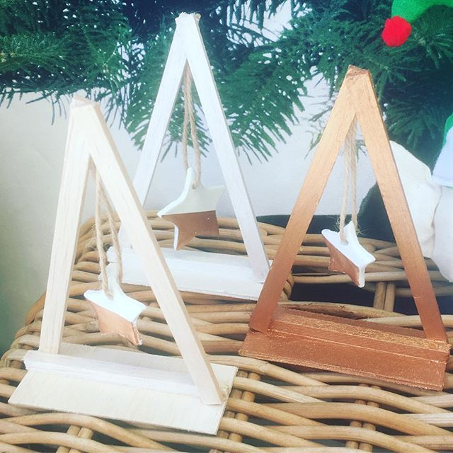 #craft lovely timber trees with clay stars at one of our #christmasworkshops commenting December 13th _Www.sewcraftcook.com