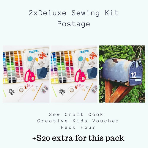 2 x Deluxe Sewing Kits