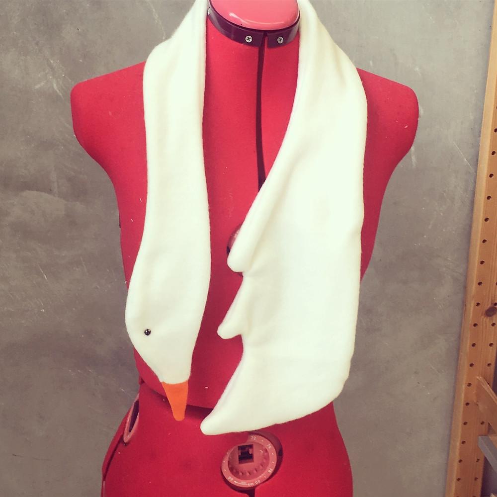 Sew a Swan Scarf