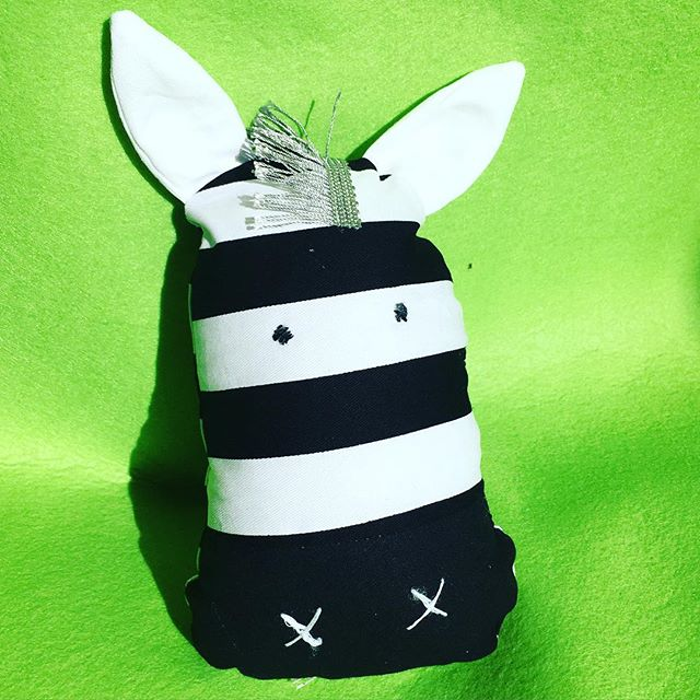 A striped #zebra is #sew fun to make! Join us at our #schoolholidayworkshops - he's just one of the #sewing #projects  www.jpgsewcraftcook.jpgcom