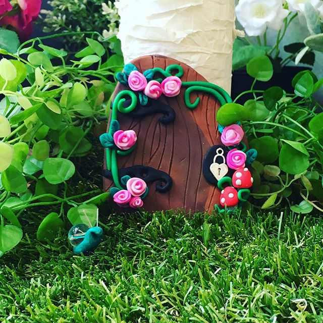 Make a #fairydoor at our #schoolholidays #workshops on Wednesday 13th April _BOOK NOW! 😀❤️ #sewcraftcook #craft #fimo #cook #sew #party #kid