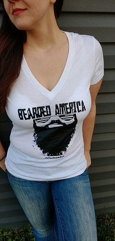 Bearded America Women's V-neck