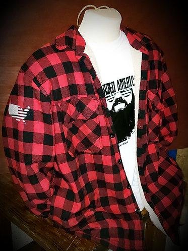 Bearded America Flannel Button-up Jacket