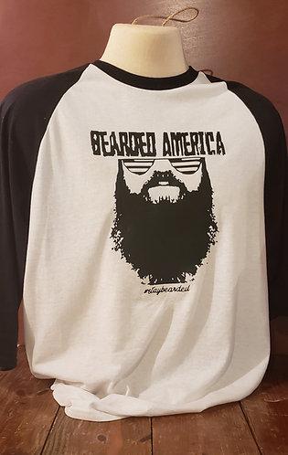 Bearded America 3/4 Sleeve Tshirts