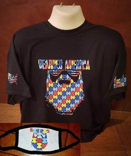 Autism Awareness T-shirt/mask combo