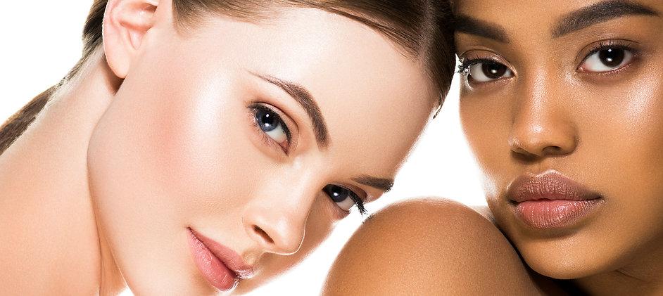 Different ethnicity women beauty skin po