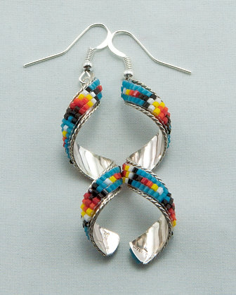 Spiral Beaded Earrings