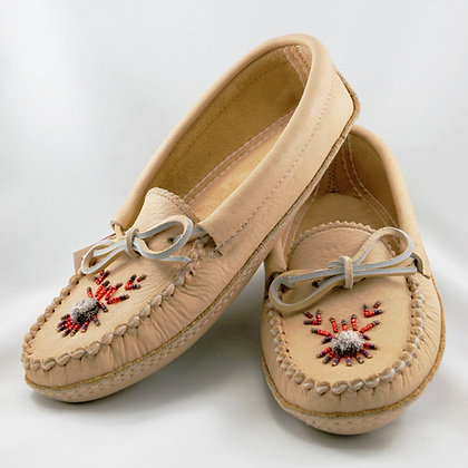 Ladies Genuine Moosehide Moccasins